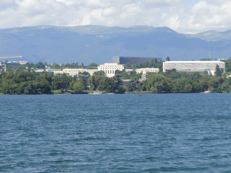 View of the United Nations, Palais des Nations, Geneva, Switzerland