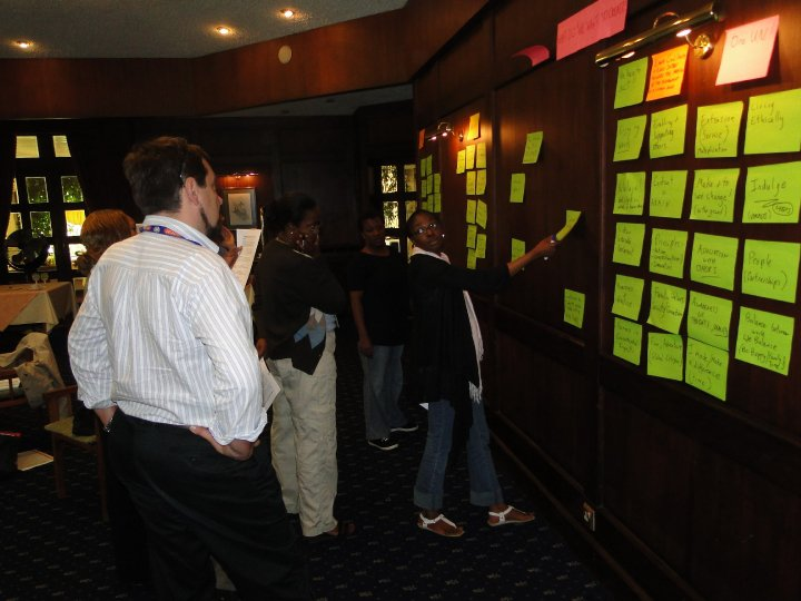 Endeavour Consulting Geneva clients during an organisational planning development workshop
