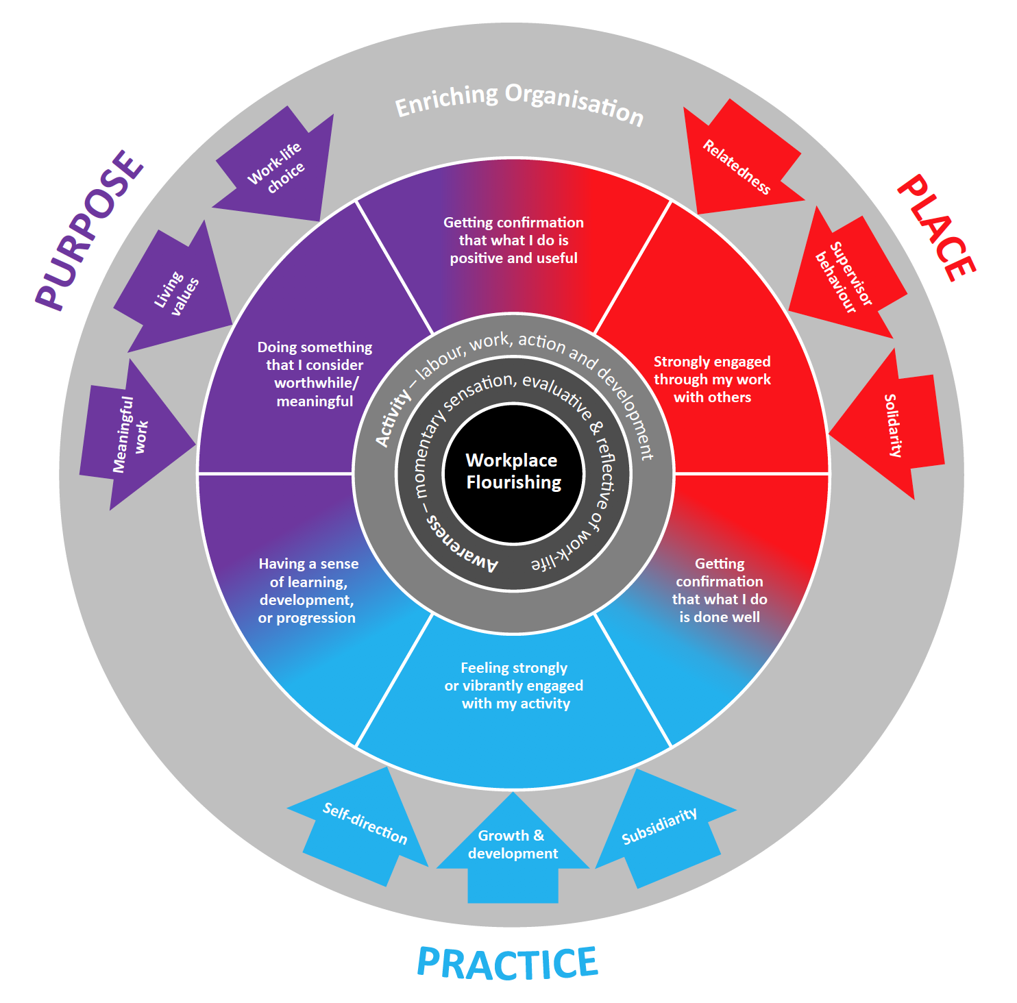 Endeavour's schema for Workplace flourishing and Enriching Organisations
